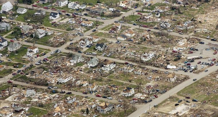 Image: Tornado damaged Parkersburg, Iowa