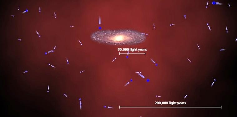 Image: Milky Way's dark matter halo
