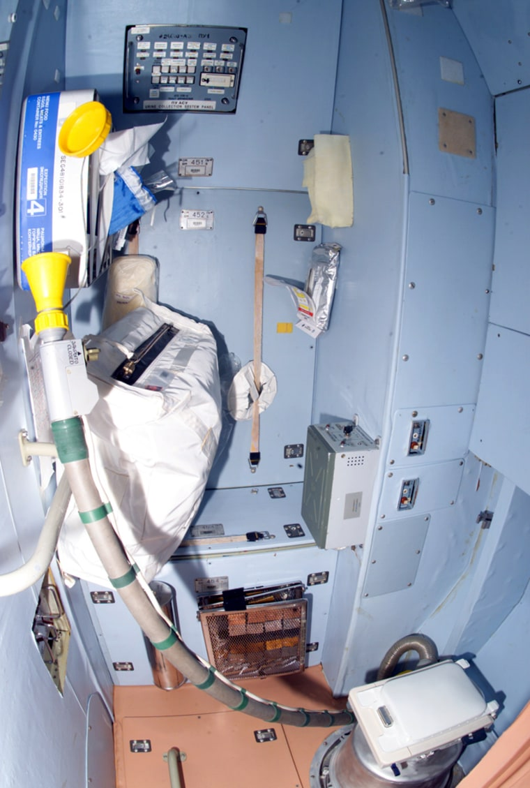 The international space station's toilet relies on vacuum equipment and air flow to carry waste away in zero-G. That equipment isn't providing enough suction on a regular basis, NASA says.