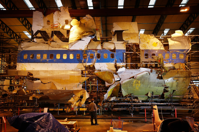 Image: Lockerbie Plane Crash Wreckage Lies In Warehouse
