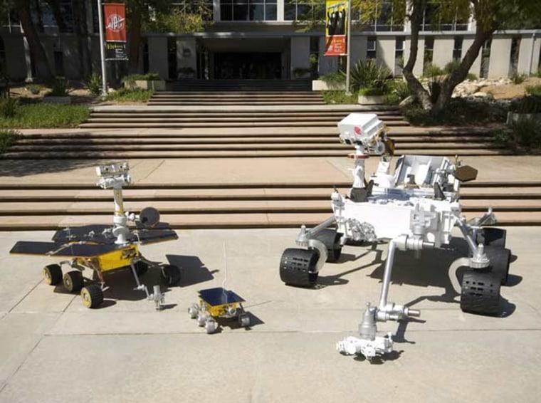 Image: Mars rover models