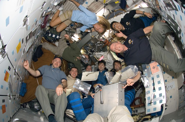 Image: STS-124 and Expedition 17 crewmembers