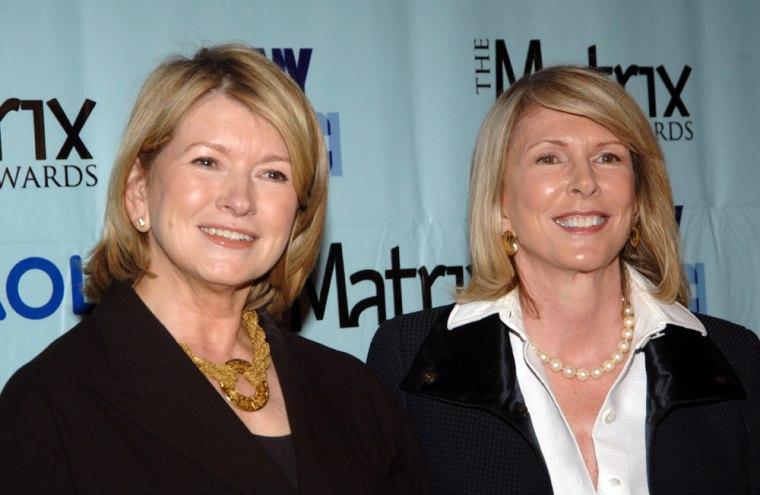Image: Martha Stewart and Susan Lyne