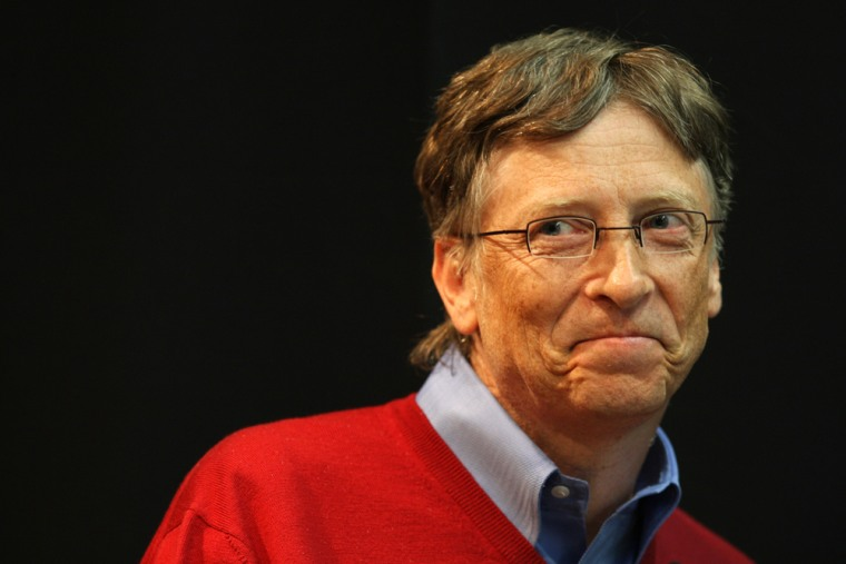 Image: Bill Gates speaks at a symposium
