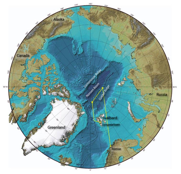 Image: North polar region