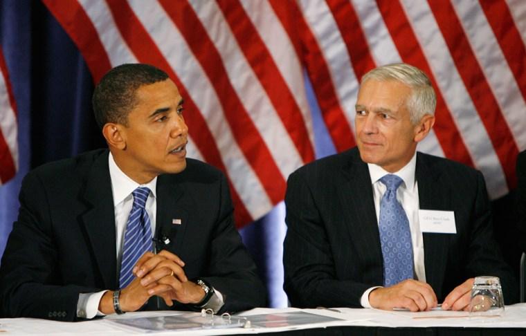 Image: Presidential candidate Barack Obama and General Wesley Clark
