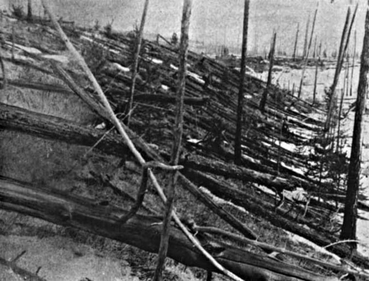 Image: Siberian forest flattened by the Tunguska explosion