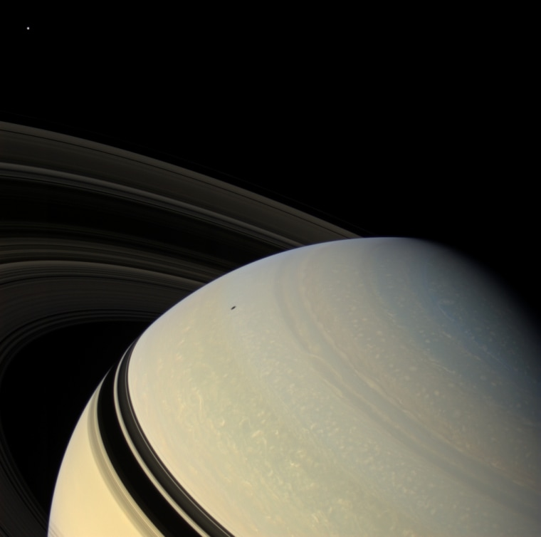 Image: Saturn and Mimas