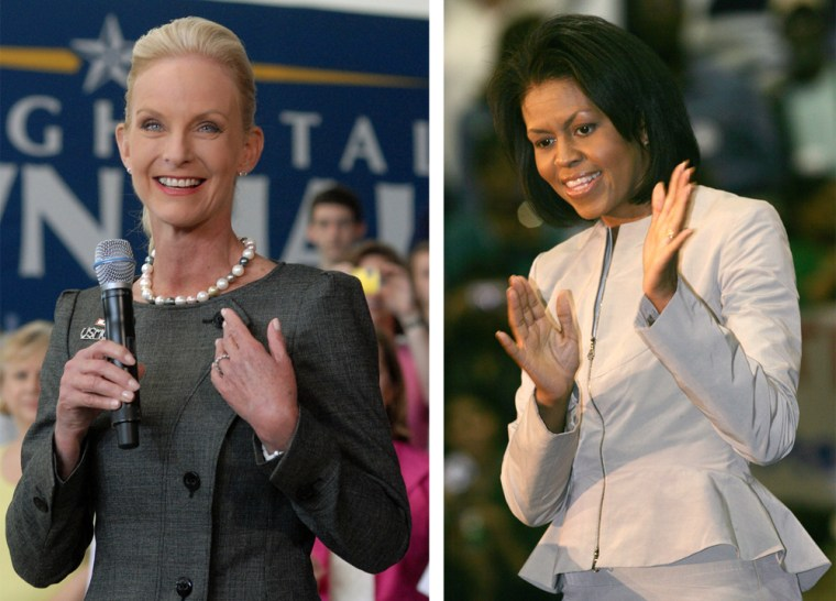 Image: Cindy McCain  Michelle Obama