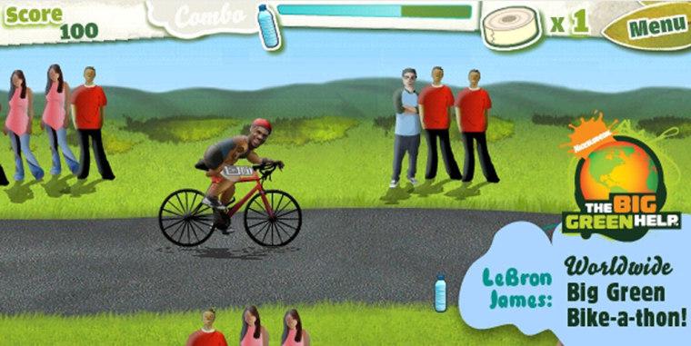 Image: Nickelodeon's Lebron James game