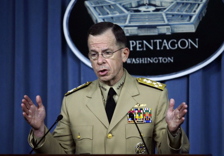 Image: Chairman of the Joint Chiefs of Staff, Adm. Michael Mullen