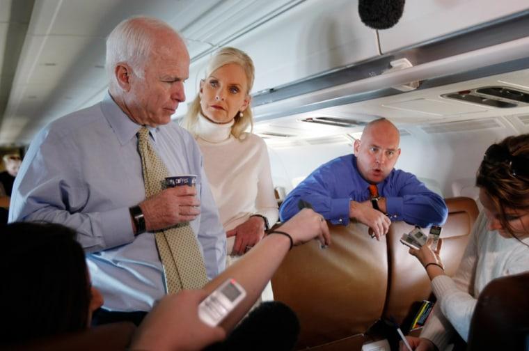 Image: John McCain, Steve Schmidt, Cindy McCain