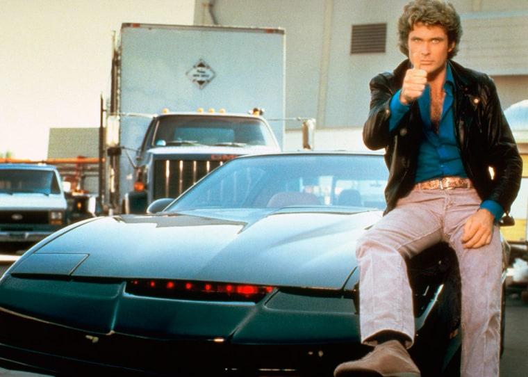 Image: K.I.T.T., David Hasselhoff as Michael Knight
