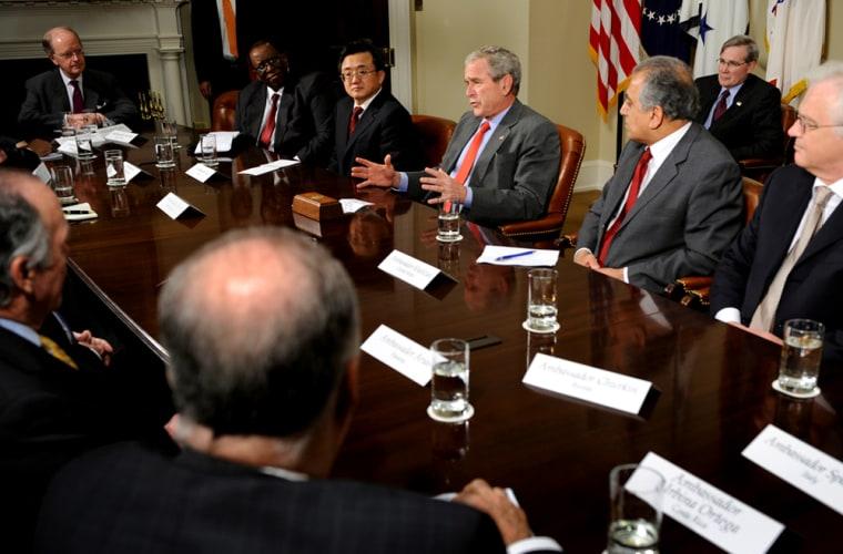 Image: President Bush, United Nations Security Council Permanent Representatives