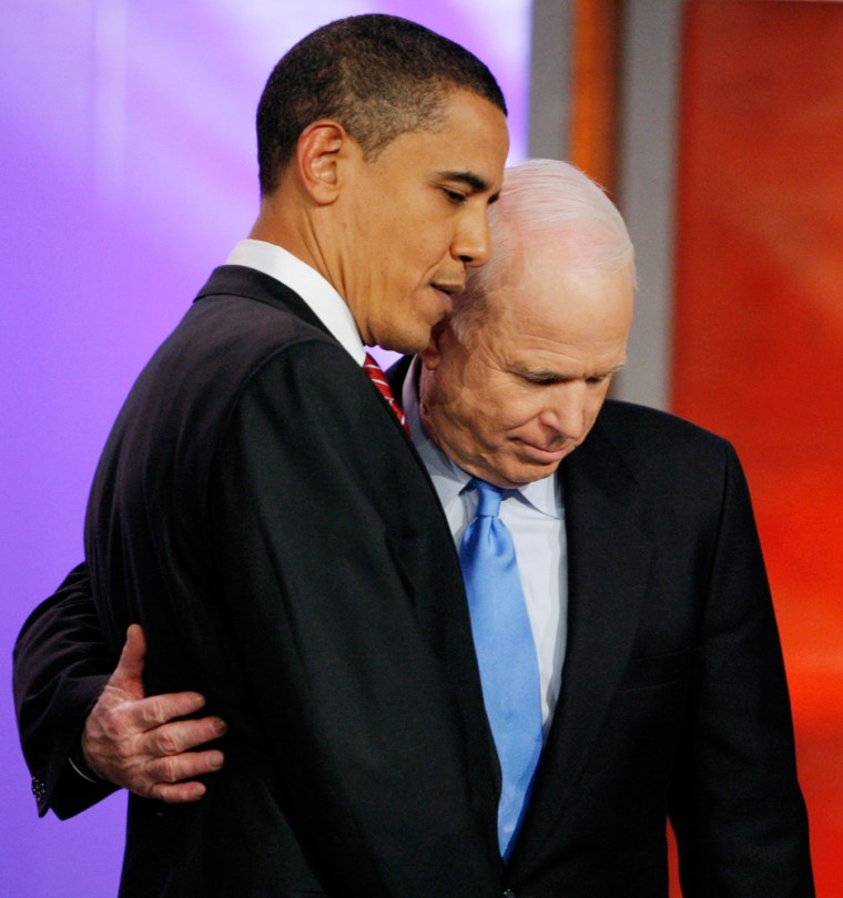 Image: Presidential candidates Obama and McCain
