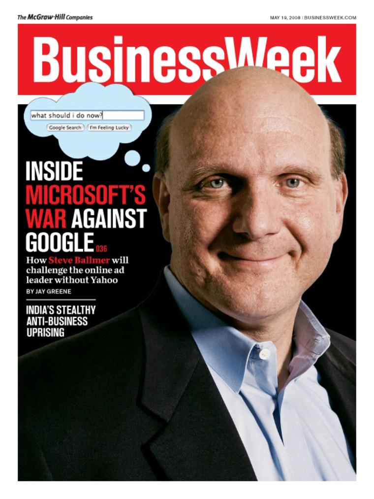Image: Steve Ballmer on BusinessWeek cover