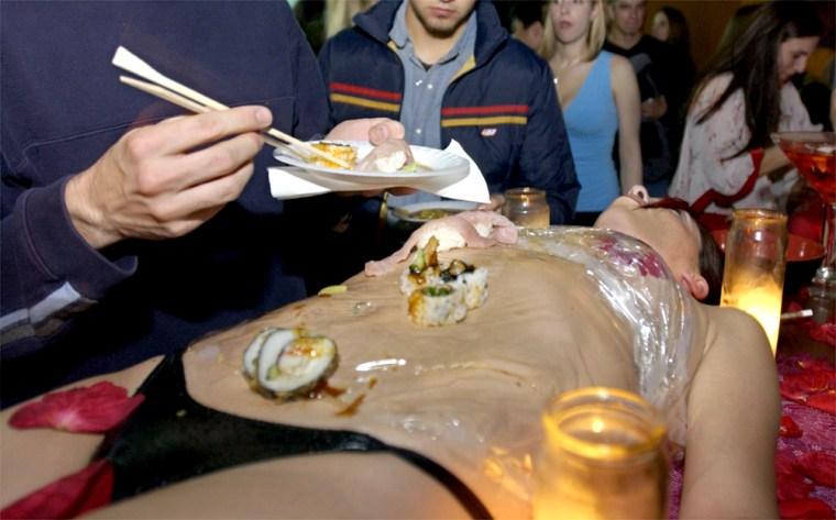 Seattle Lounge Serves Up Sushi On Naked Woman