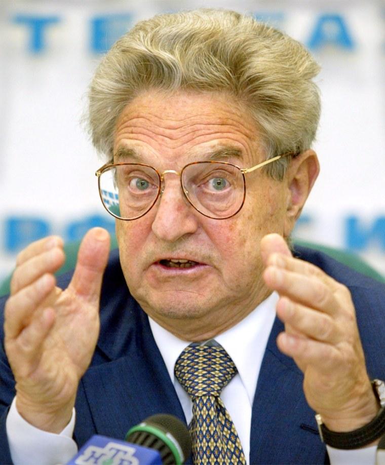 FinancierGeorge Soros isa big donor to anti-Bush groups.