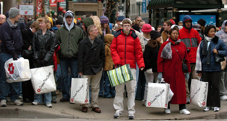 Americans celebrating Christmas will shell out $758.16 on Christmas this year, up 8.1 percent from last year, a research group reports.