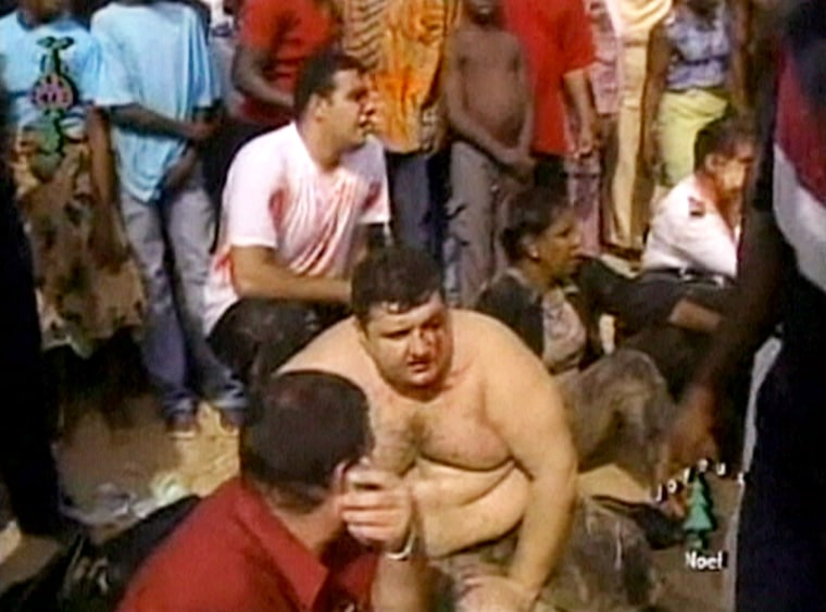 Image: Benin crash survivors