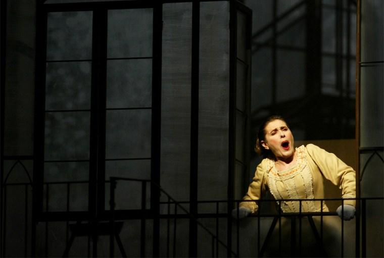 SPANISH SOPRANO MARIA BAYO INTERPRETS MARGARITA DURING THE REHEARSAL OF OPERA 'FAUSTO' IN SEVILLE