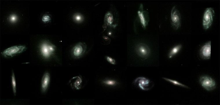 There are only a few selections fromthe GEMS project'shuge gallery of galaxies. GEMS stands for Galaxy Evolution from Morphology and Spectral Energy Distributions.