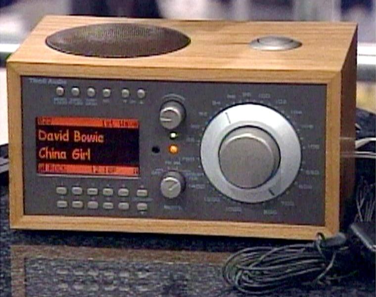 Satellite radio and high-quality sound combine in a new AM/FM/Sirius version of the Tivoli clock radio.