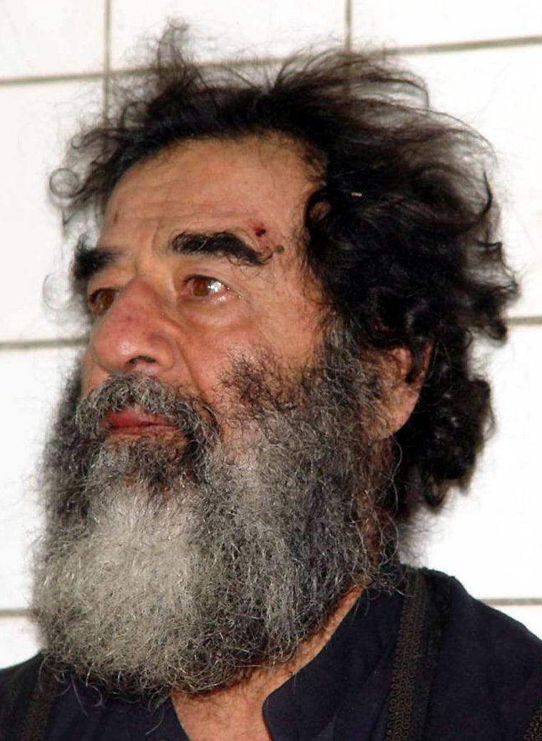 FILE PHOTO Saddam Hussein Declared A POW