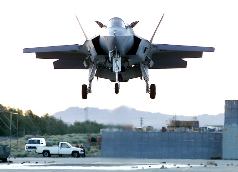 LOCKHEED FIGHTER PROTOTYPE WHICH IS COMPETING FOR JOINT STRIKE FIGHTER CONTRACT