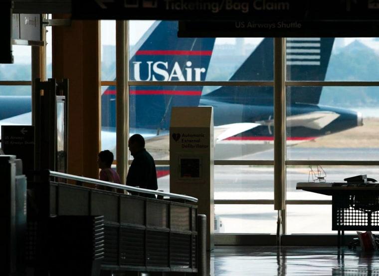 US AIRWAYS PLANES AT THE WASHINGTON RONALD REAGAN NATIONAL AIRPORT