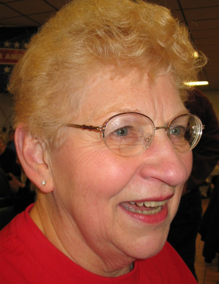 Lois Dencklau, a Democrat in Fort Dodge, Iowa, is a strong Kerry supporter.