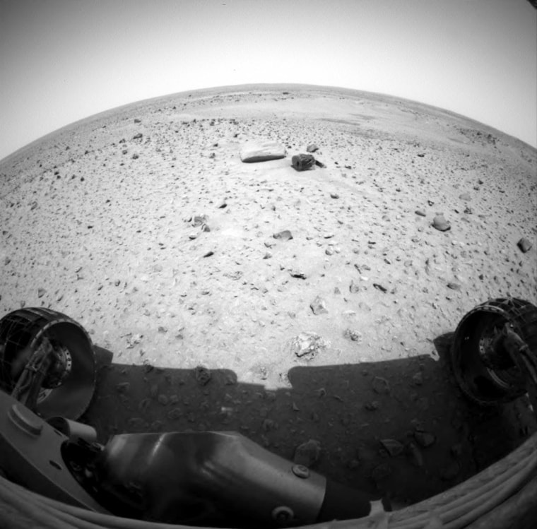 Image: Rover's view of Martian landscape