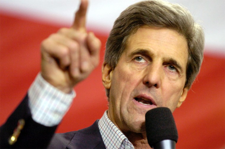 Kerry Uses Push From Iowa Win To Kick Off New Hampshire Campaign