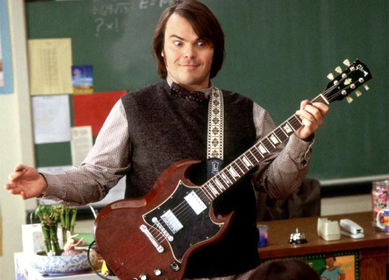 JACK BLACK IN SCENE FROM NEW FILM SCHOOL OF ROCK