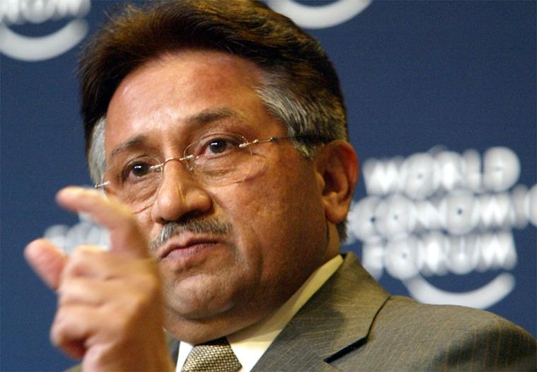 Pakistan PresidentPervez Musharraf speaks Thursday in Davos, Switzerland.