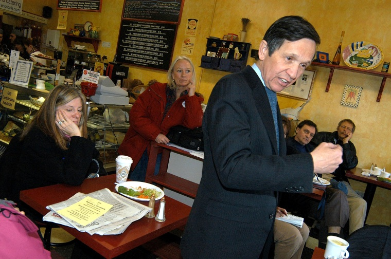Kucinich Campaigns In New Hampshire