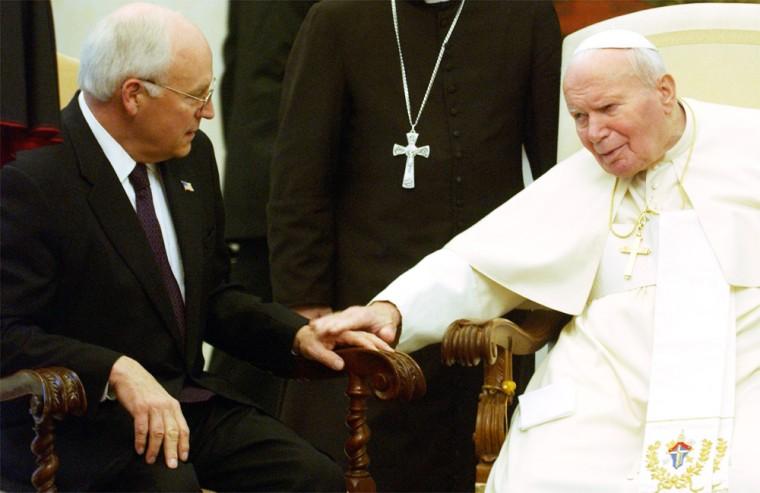 Pope John Paul II Meets Dick Cheney