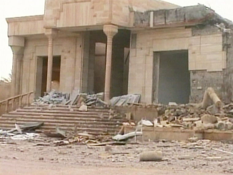 The house built by Saddam Hussein in his hometown of Uja was damaged by bombing during the U.S.-led invasion.