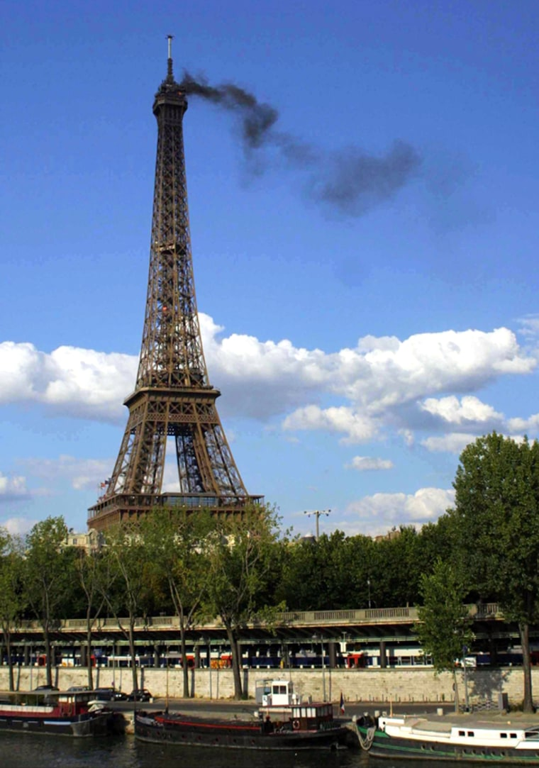 Fire at The Eiffel Tower