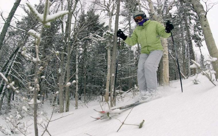Image: Glade skiing