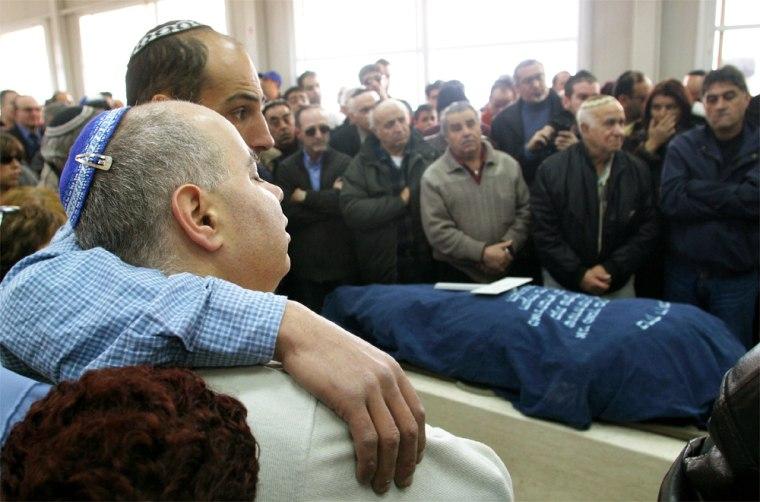 RELATIVES OF ISRAELI ROSE BONA KILLED BY PALESTINIAN SUICIDE BOMBER IN JERUSALEM