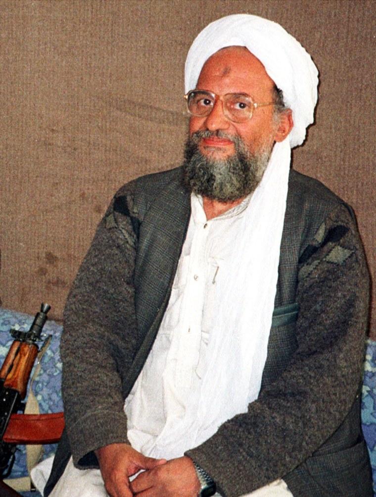 UNDATED FILE PHOTO OF AL QAEDA NUMBER TWO AL-ZAWAHRI