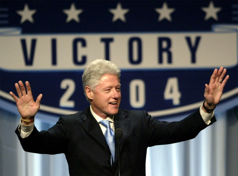 FORMER PRESIDENT BILL CLINTON TALKS AT THE DEMOCRATIC NATIONAL COMMITTEE DINNER IN WASHINGTON