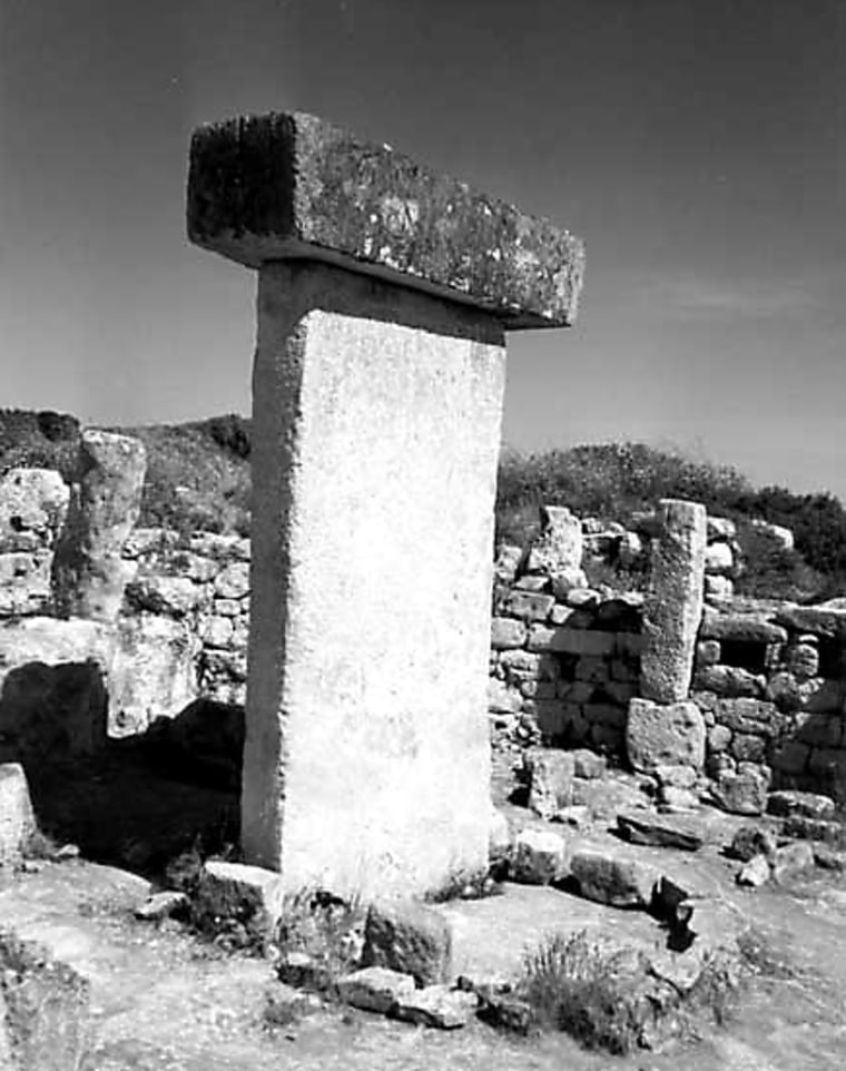 This is oneof about 30 Bronze Age sanctuaries on the Spanish island of Menorca studied by astronomy historian Michael Hoskin. Built facing the south around 1000 B.C., the sanctuarieswould have had a view of the constellation Centaurus and may have once been used as healing centers.