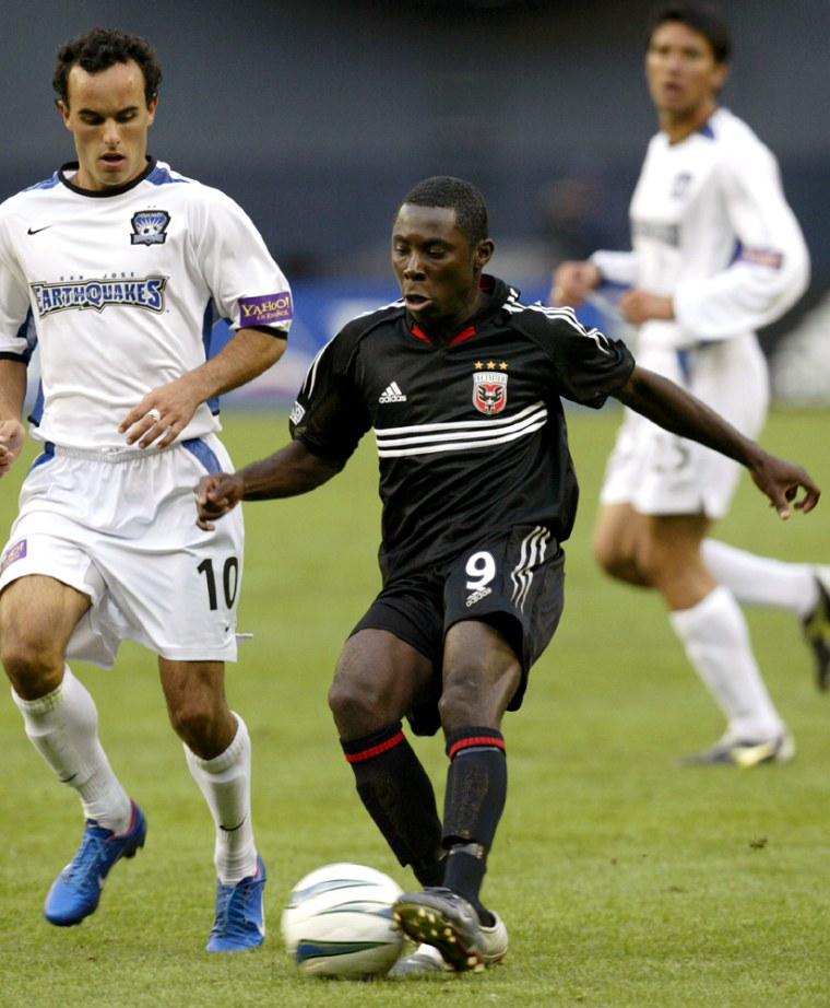 DC UNITEDS FREDDY ADU PLAYS IN FIRST PROFESSIONAL SOCCER GAME