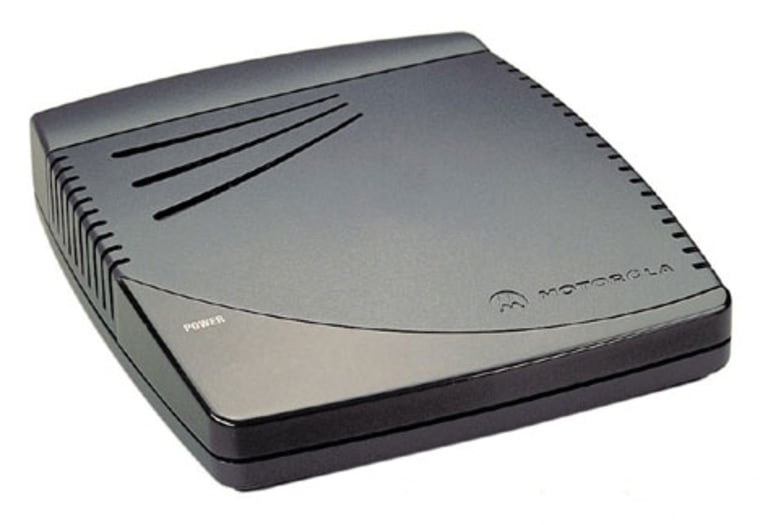 Vonage usesa voice terminal box, such as this one from Motorola, to link up your high-speed Internet connection and your phone.