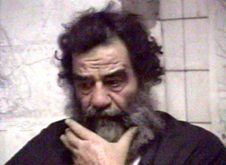 SADDAM HUSSEIN IS FILMED AFTER HIS CAPTURE