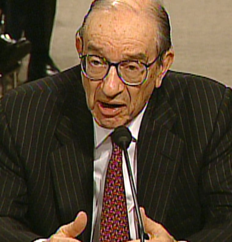 """""""As I have noted previously, the federal funds rate must rise at some point to prevent pressures on price inflation from eventually emerging,"""" Alan Greenspan told Congress Wednesday."""