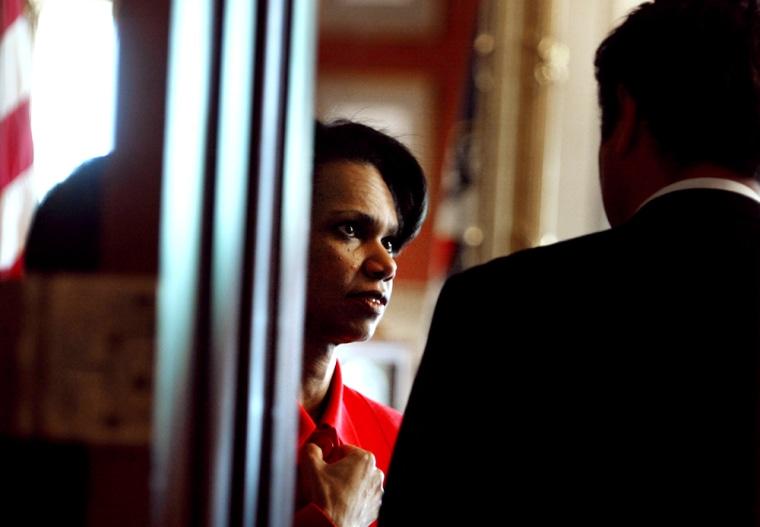 Condoleezza Rice Meets With Republican Senators On Capitol Hill