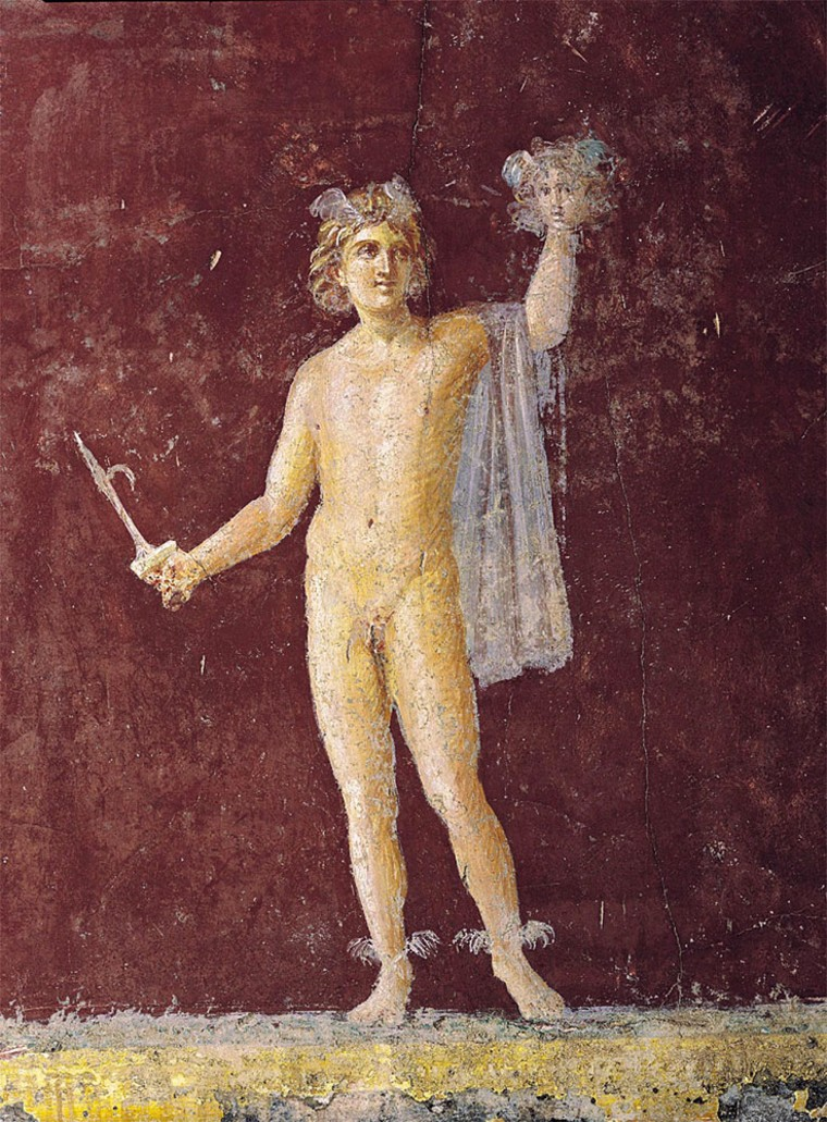 """A fresco titled """"Perseus,"""" from the Villa San Marco, is part of a Smithsonianexhibit called""""In Stabiano: Exploring the Ancient Seaside Villas of the Roman Elite."""""""